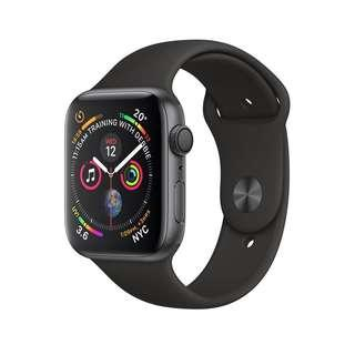 BNIB Apple Watch Series 4 (GPS) 44mm Space Gray Aluminum Case with Black Sport Band