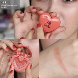 [現貨] 3CE Heart Pot Lip