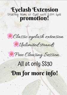 Promotions! Classic Eyelash Extension 🌸