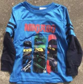 🚚 Authentic Ninjago dry fit Long sleeve top boy tshirt 4-12yrs old