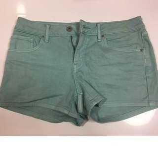 Uniqlo women low waist turquoise shorts #endgameyourexcess