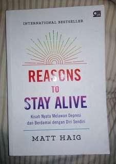Novel internastional best seller Reasons To Stay Alive