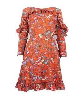 Sweet Floral Backless Dress