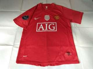 Authentic Never Been Worn Manchester United Nike 2008 Home Retro Football Jersey With Ronaldo 7 Print