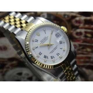 ROLEX 1994 OYSTER PERPETUAL DATEJUST 68273 AUTOMATIC MID SIZE WATCH