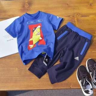 Adidas可愛鯊魚套裝