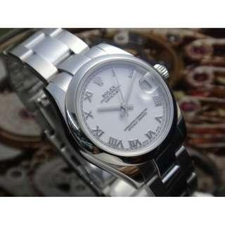 ROLEX 2006 OYSTER PERPETUAL DATEJUST 178240 AUTOMATIC MID SIZE WATCH