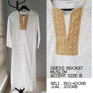 Dress brokat muslim