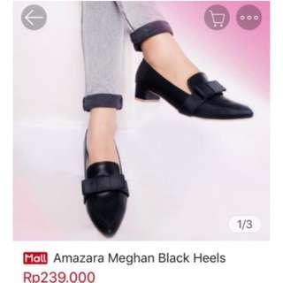 Amazara Meghan Black Heels - Ukuran 39
