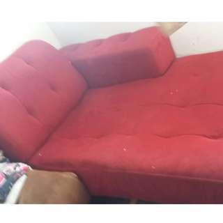 [SOLD] Home clearance - L shape + ottoman chair
