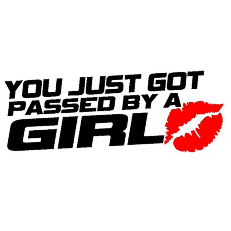 5 pcs you just got passed by a girl car decal