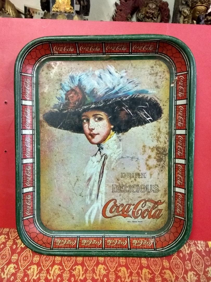 COCA COLA 可口可樂 70年代廣告鉄牌 鉄盆