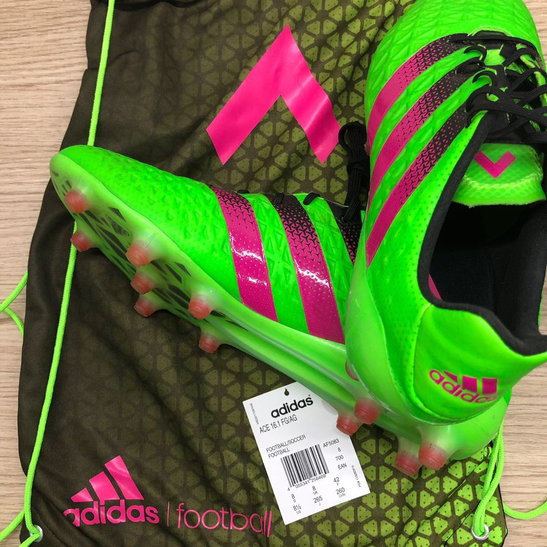a81f614fb Adidas Ace 16.1 FG / AG soccer boots, Sports, Sports & Games Equipment on  Carousell