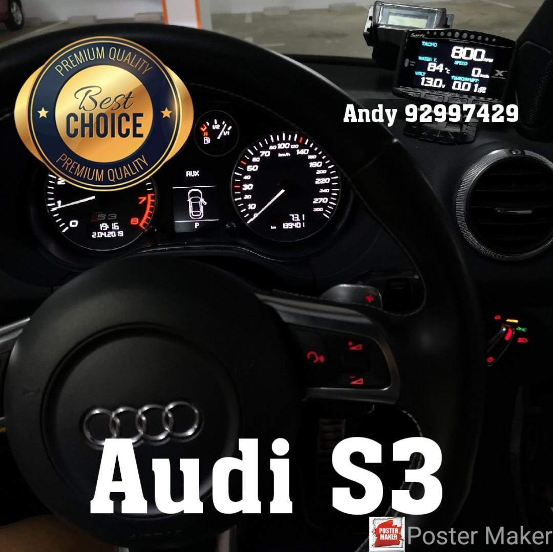 Audi S3 Lufi X1 Revolution OBD OBD2 Gauge Meter display, Car