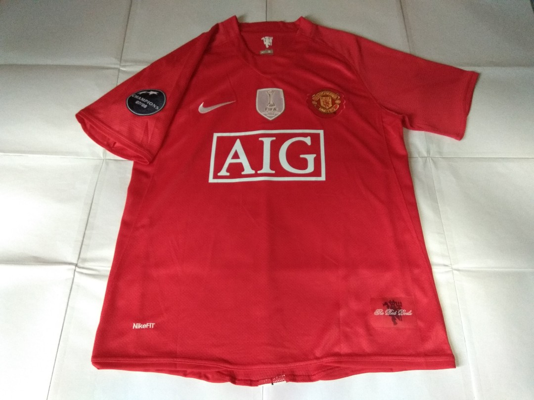 85ce42d7131 Authentic Never Been Worn Manchester United Nike 2008 Home Retro ...