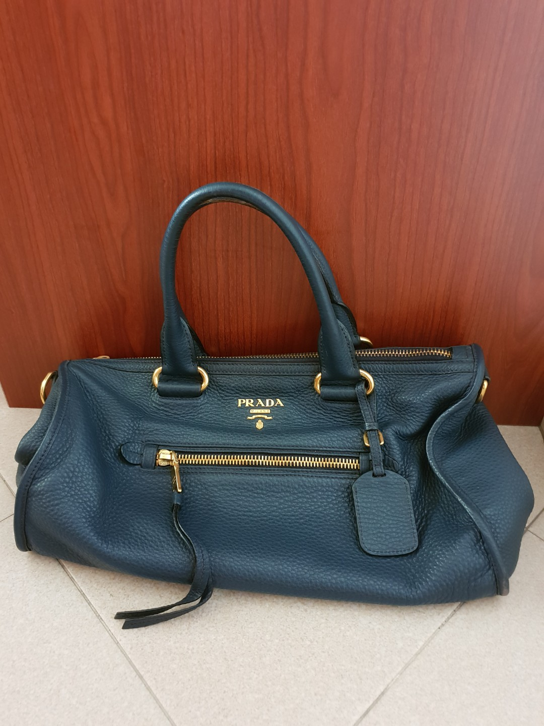 e9124c79733c6f Authentic Prada Leather Tote Bag, Luxury, Bags & Wallets, Handbags ...
