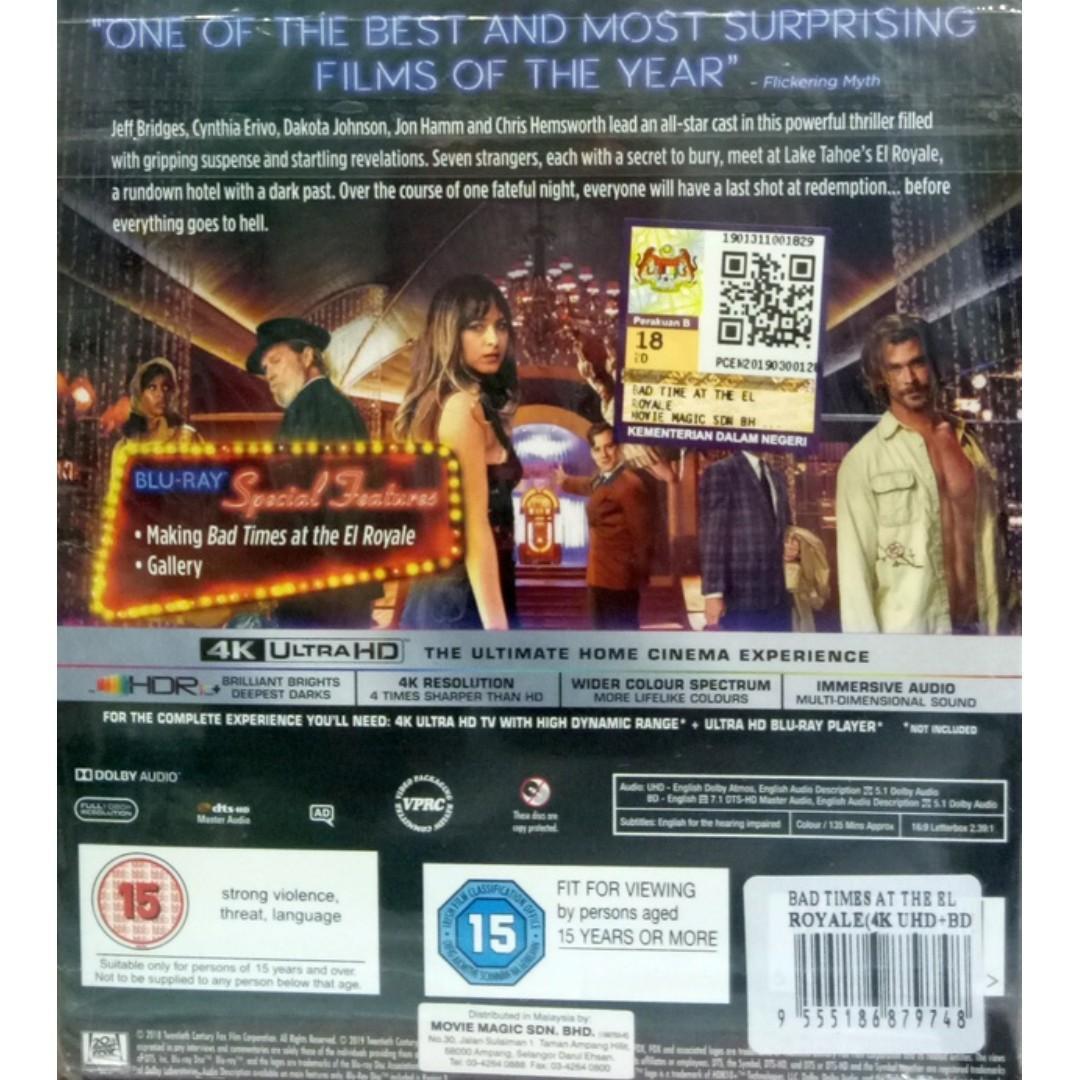 English Movie Bad Time At The El Royale 4K Ultra HD+Blu Ray