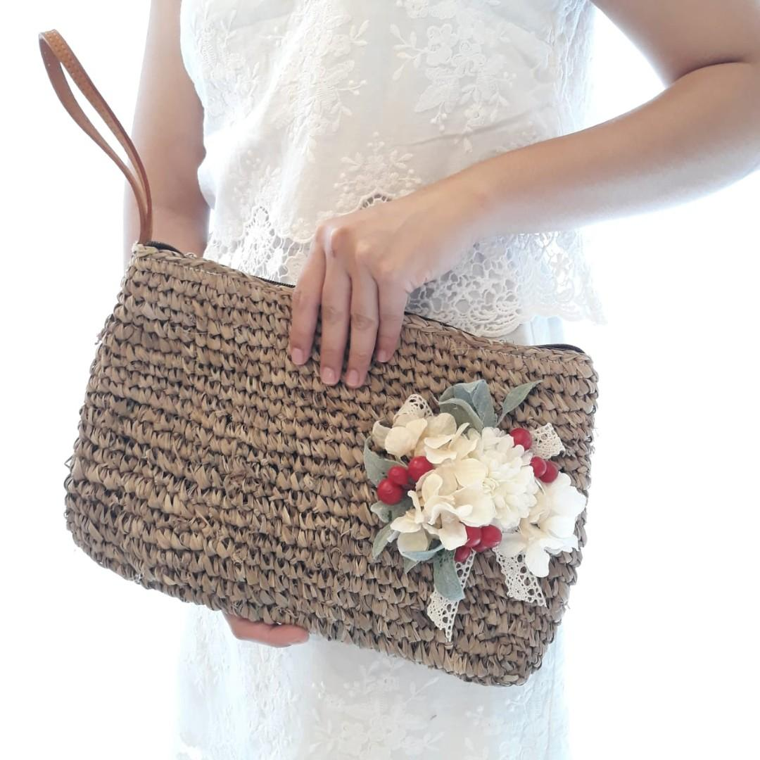 Beautiful Flower Bag Tas Cantik dengan Hiasan Bunga Artificial Premium