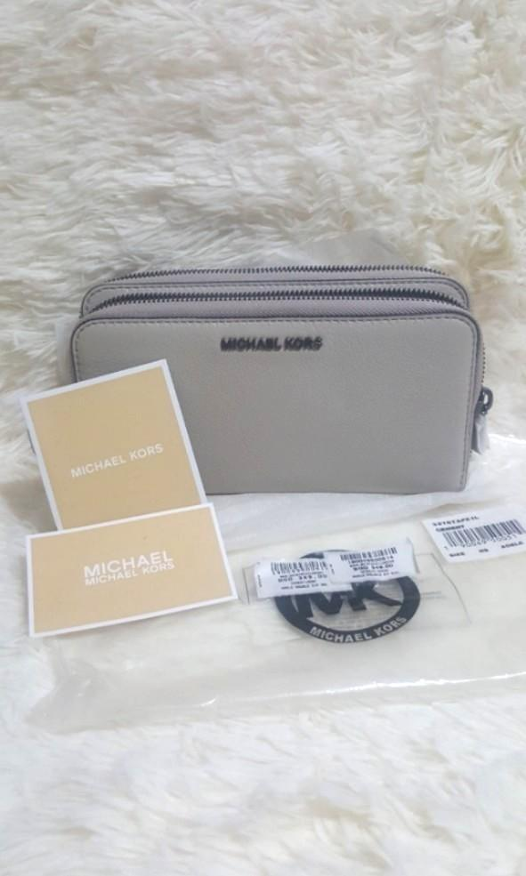 Boutique $349_BN Auth Michael Kors Adele Double Zip Long Wallet  #MRTYishun #MRTSerangoon #MRTCCK #MRTBedok