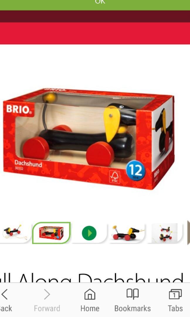 Brio Dachshund Pull Along Toy (BNIB)
