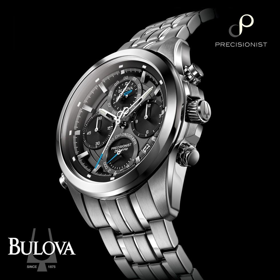 Genuine Bulova Precisionist Chronograph (1/1000th of a second) Stainless Steel Watch