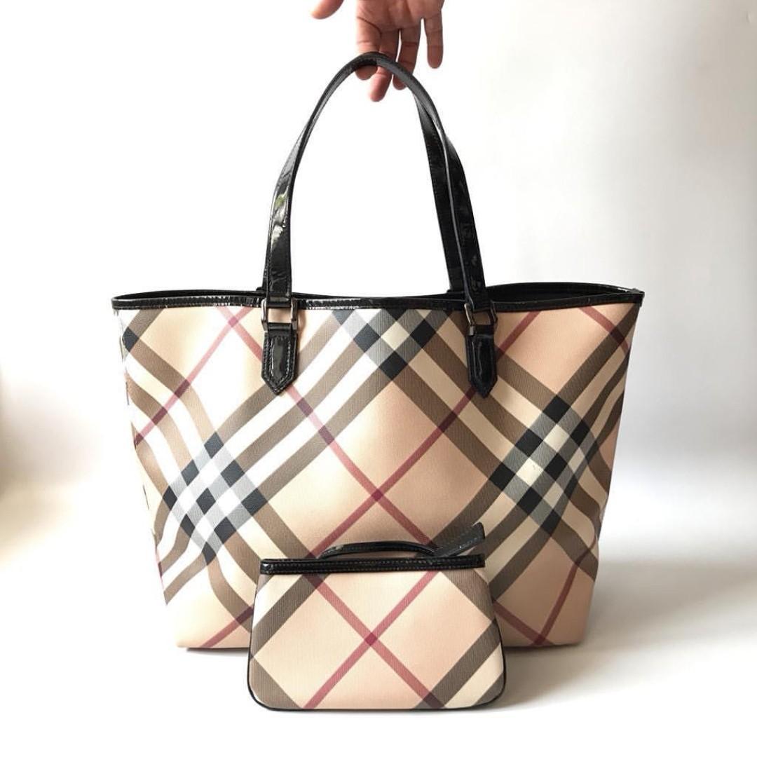 5e8491978f04 Burberry Nova Check Tote (Preloved - Authentic), Luxury, Bags ...