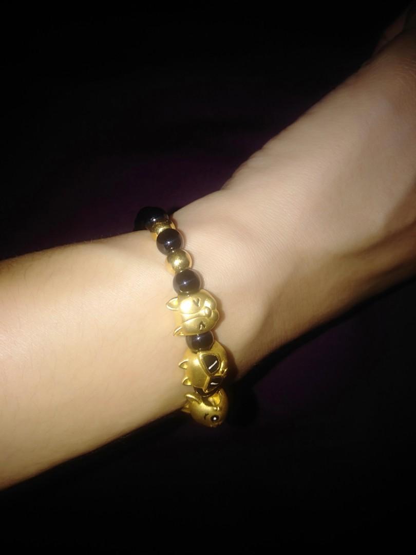 Cat pixiu bracelet pure gold 999