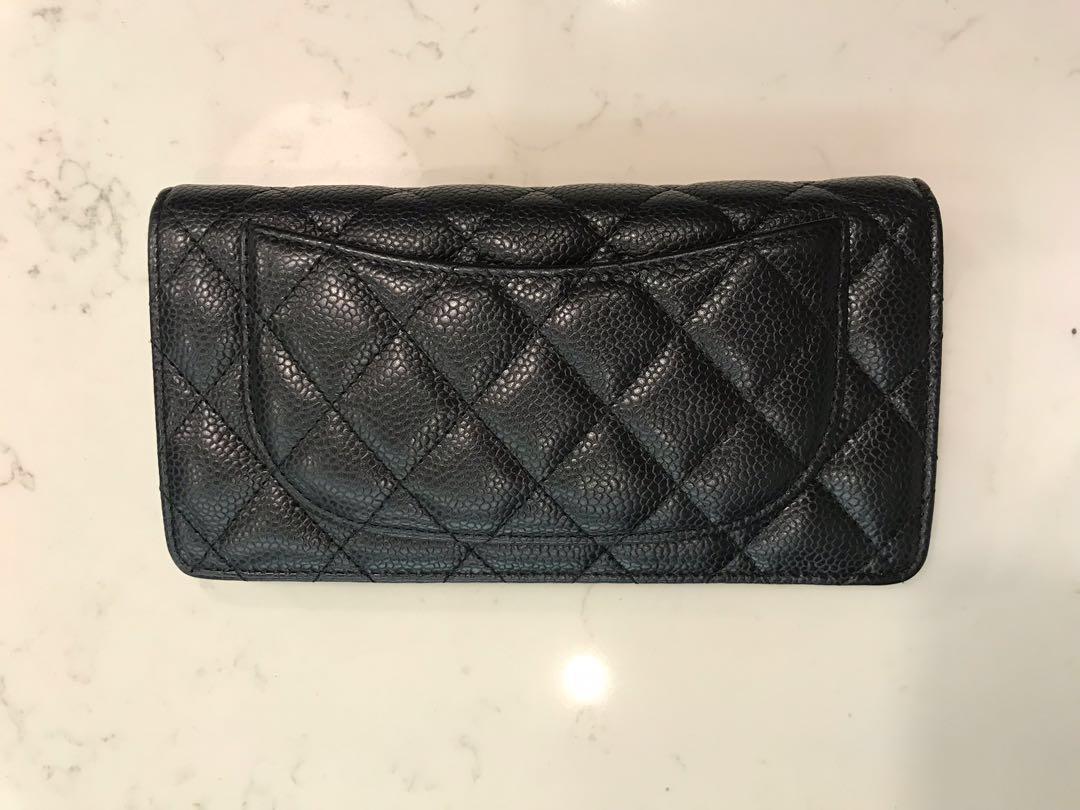 774ab92d6824 Chanel Classic Yen Wallet Black Caviar SHW, Luxury, Bags & Wallets ...
