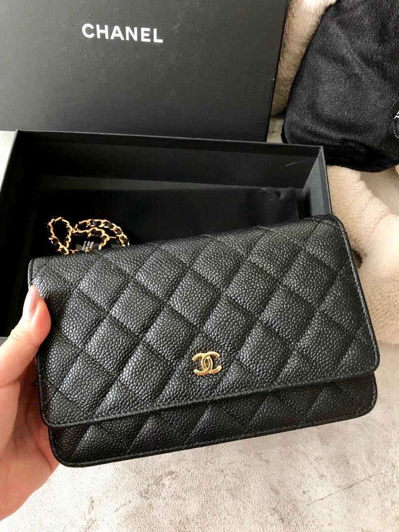 7e64ddf2892c Chanel WOC gold caviar wallet on chain