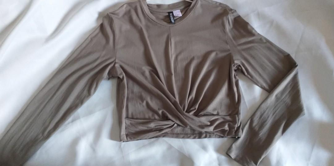 Crop top army h&m