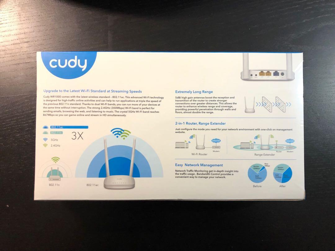 Brand new Cudy AC1200 Dual Band Smart WiFi Router