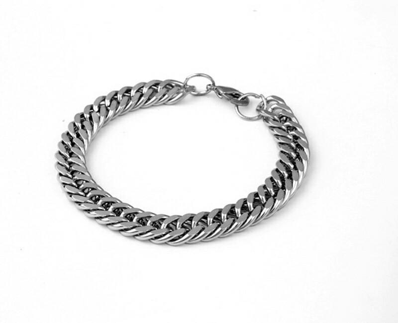 Curb Chain Bracelet Hiphop Stainless Steel Bracelet Punk Cuban Curb Chains Bracelet