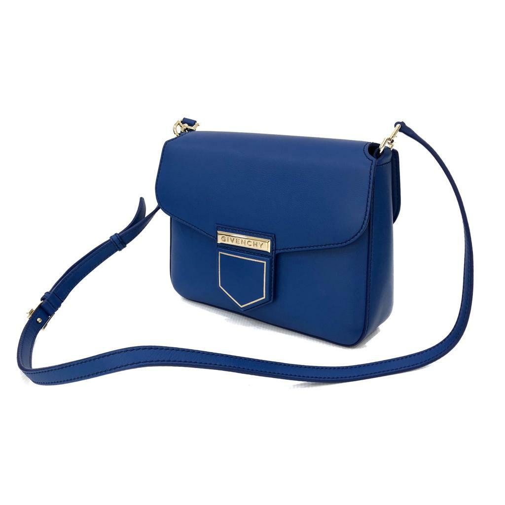 Excellent Givenchy Nobile Small 25cm Indigo Blue 2016 (db, strap, cards)