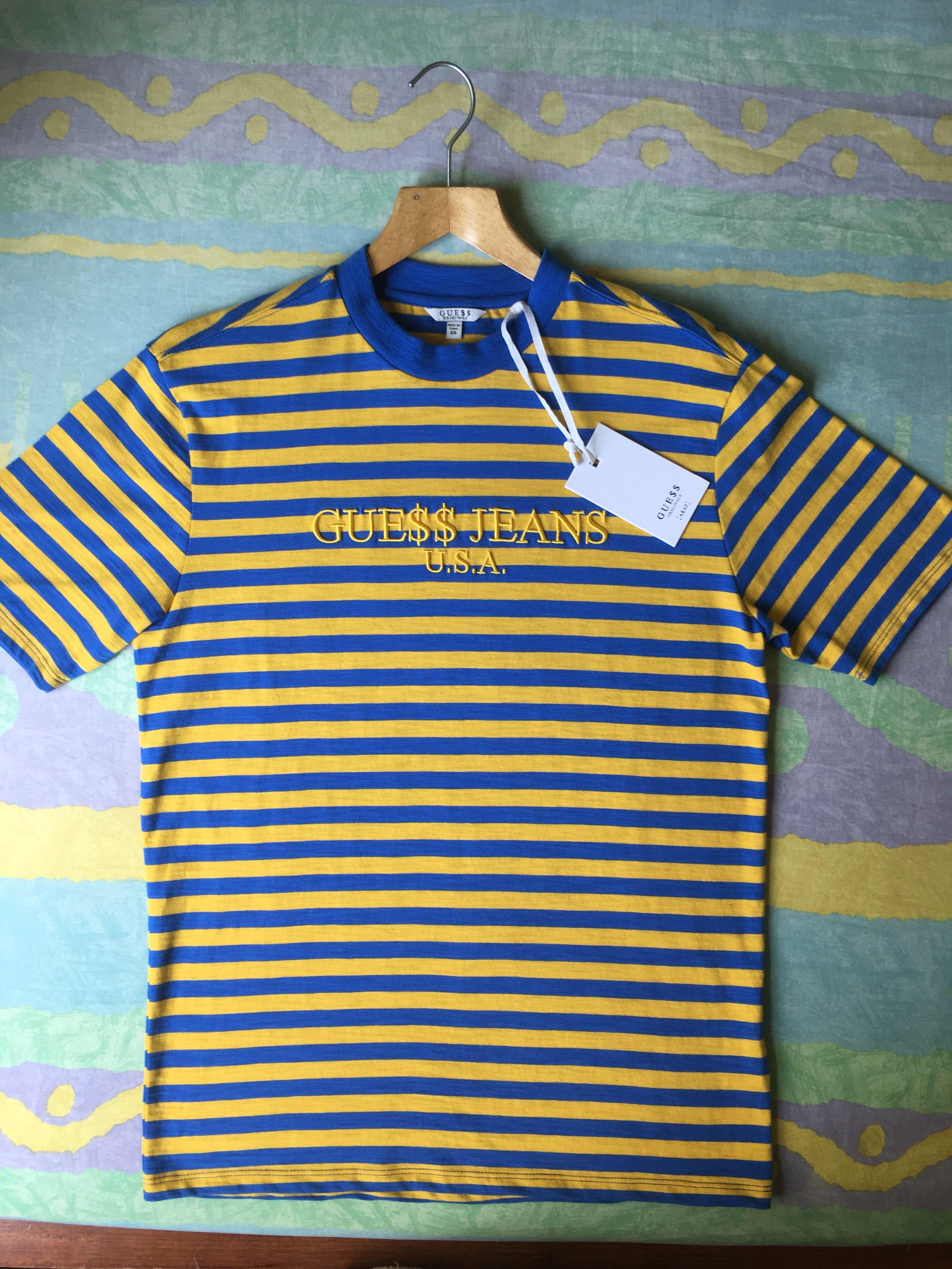 3a36a5140b95 Asap Rocky Guess Jeans Striped T Shirt