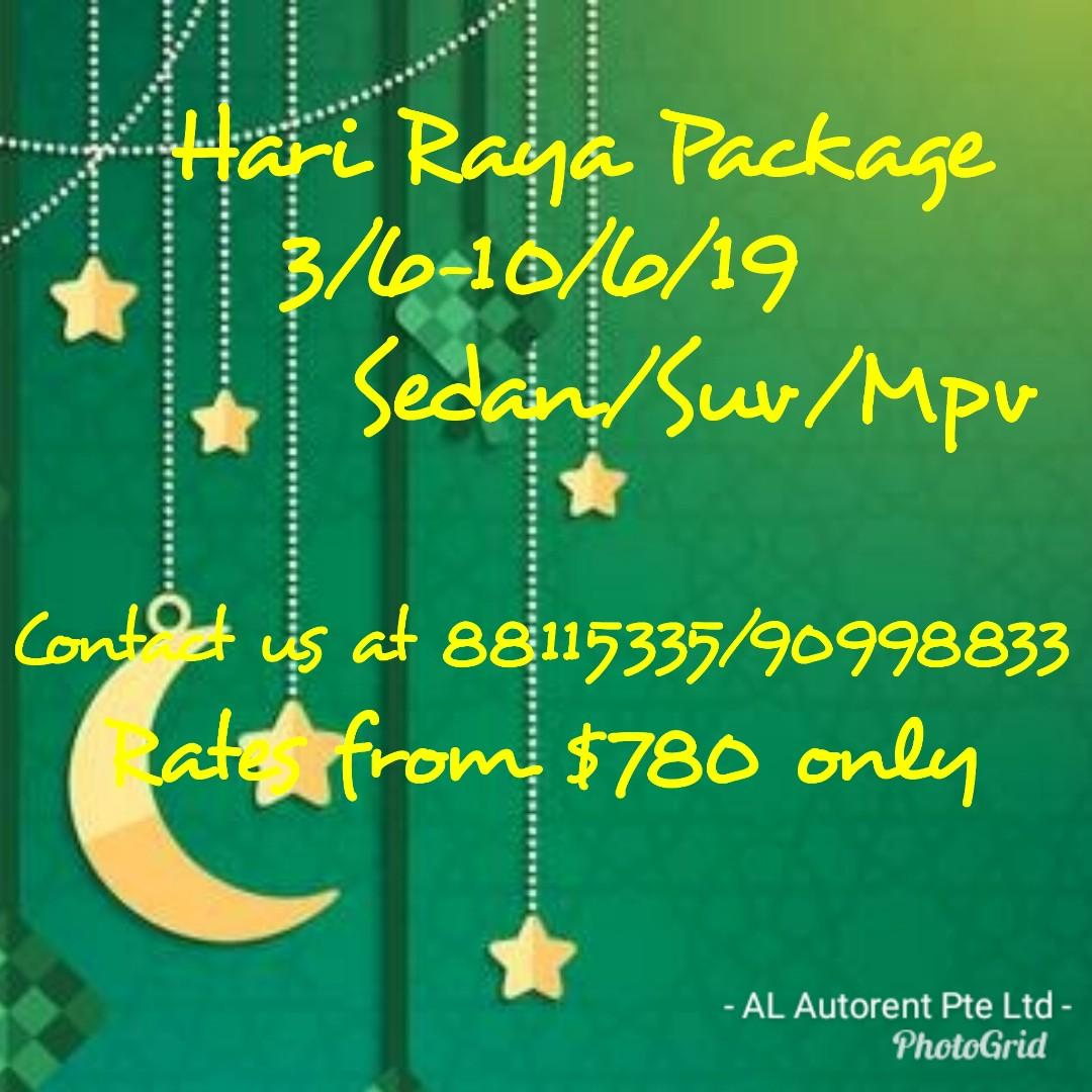 Hari Raya package from $780 , 3-10/6. Conyact us at 88115335/90998833