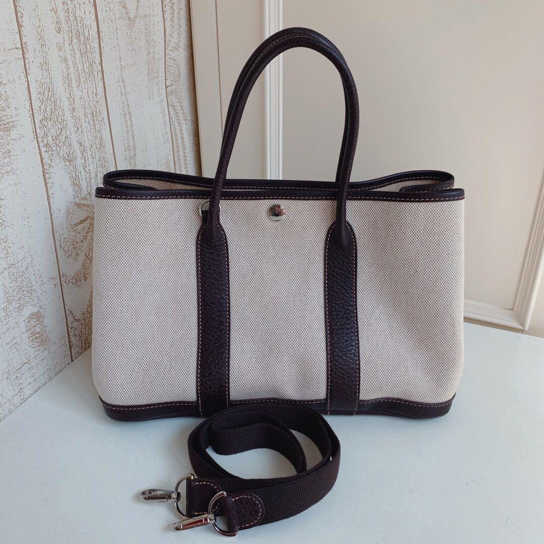 e8a489df628 Hermes Garden Party 30 w Strap, Luxury, Bags & Wallets, Handbags on ...