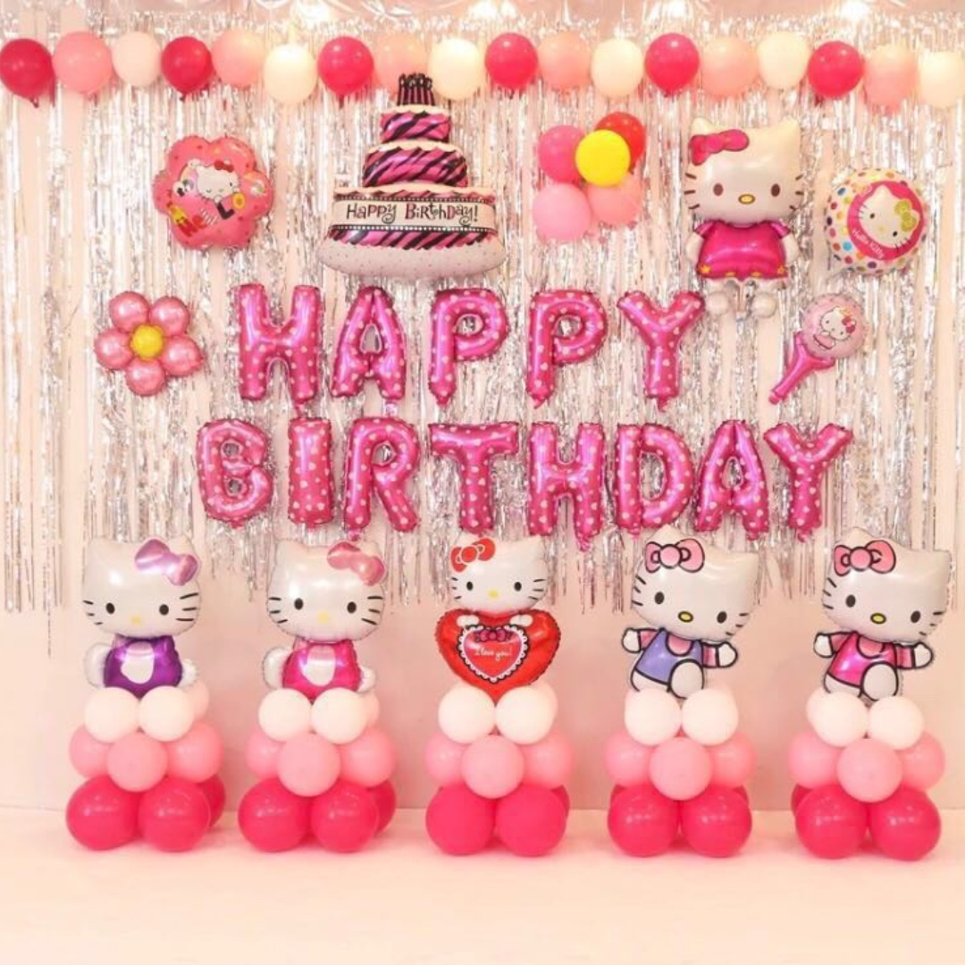 cd019a04b In-stock> Happy Birthday Party Decoration set -Hello kitty, Design ...