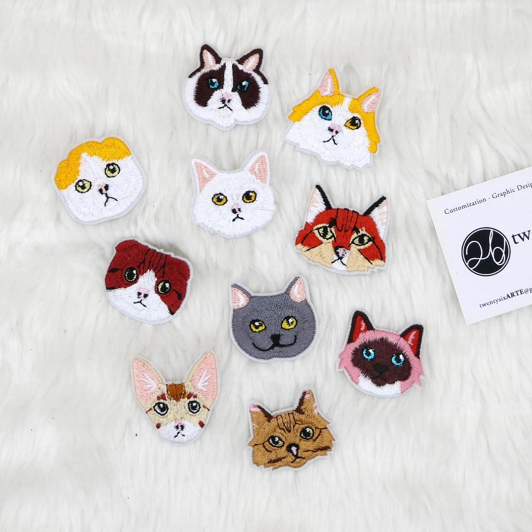 Iron On Patch | Cat Series 02 | british shorthair, scottish fold, ragdoll, devon rex, snow shoe, peterbald, caracals, turkish van, siamese, persian