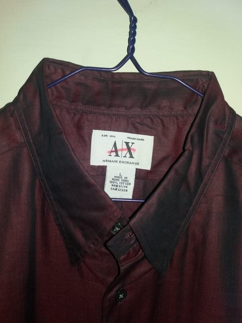 Kemeja Armani Exchange Red Maroon 🍎