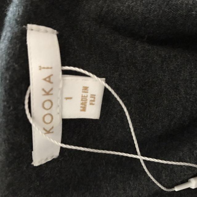 Kookai Marble Grey Choker Crop Top