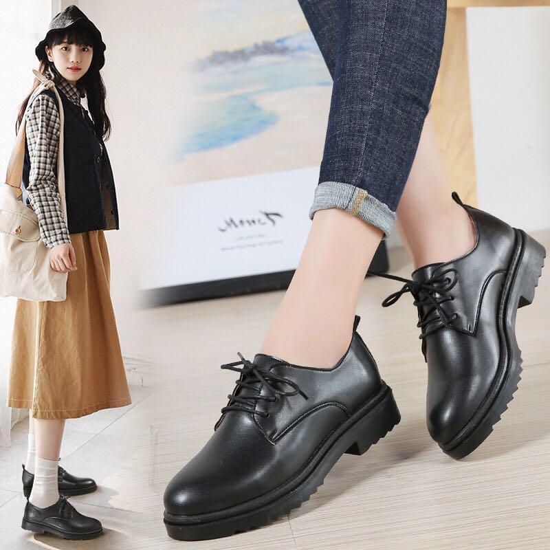 Korean shoe platform heel low