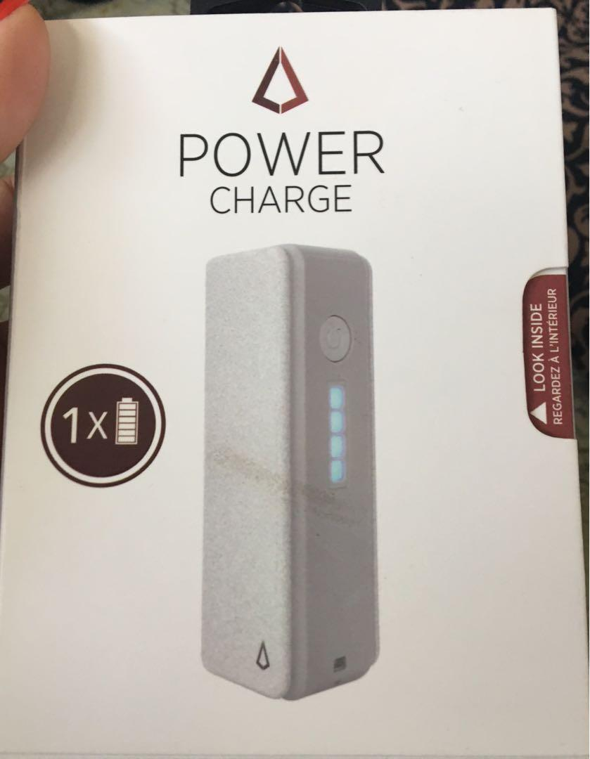 LBT Power Charge, Portable Charger- 2600mAh with Grey Stone Finish