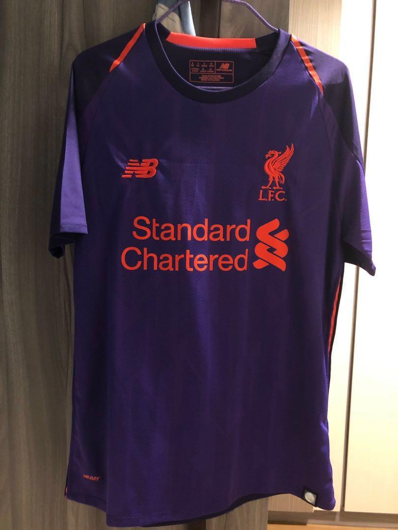 buy popular 30ed0 843cb Liverpool Jersey (Away Kit 18/19) (S size), Men's Fashion ...