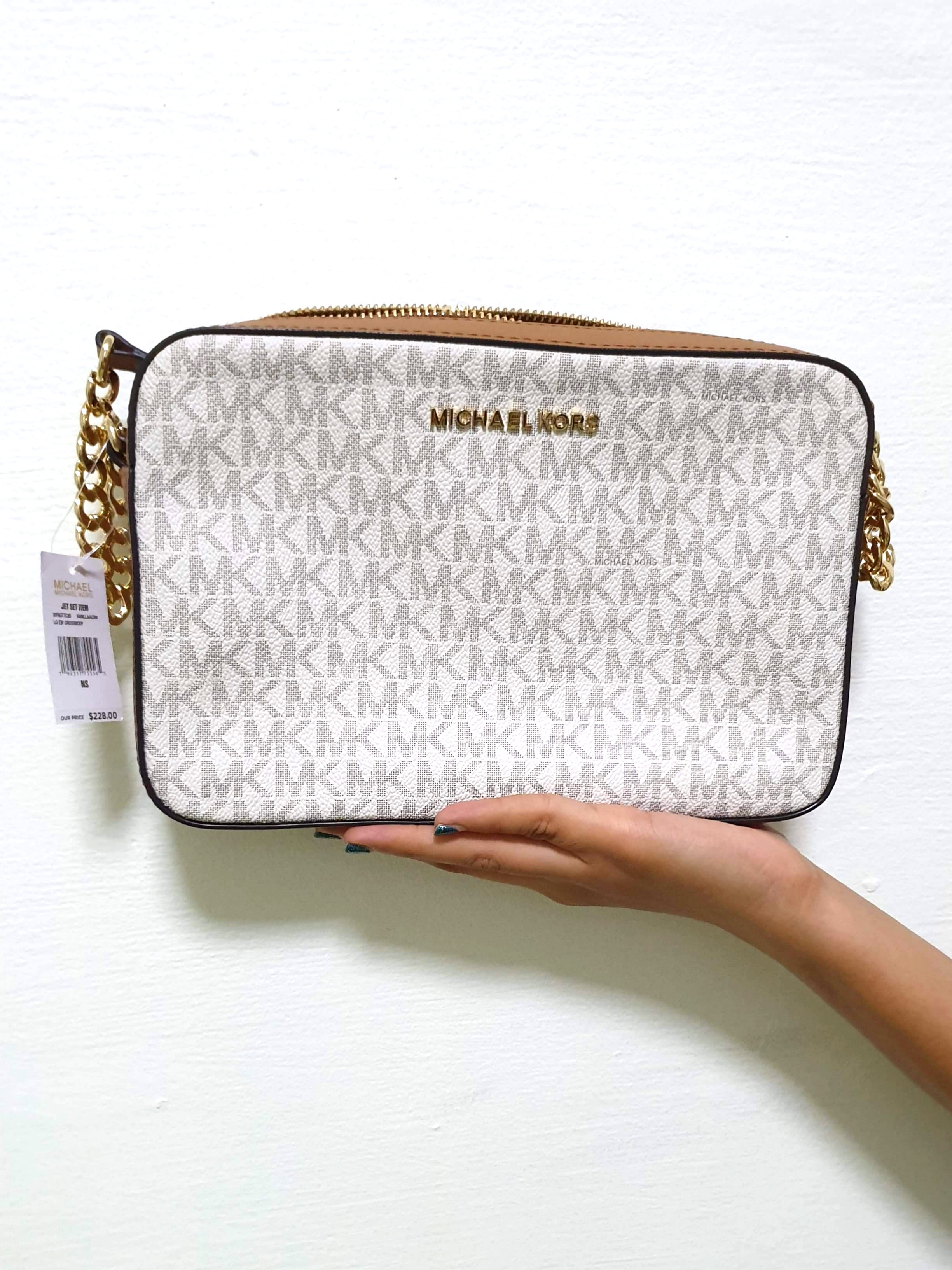 7bcd49d03d81 BN Authentic Michael Kors LG EW Crossbody (Vanilla)