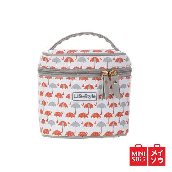 Miniso Cosmetic Bag / Tas Makeup Miniso Lifestyle / Tempat Make Up / Pouch Cosmetic