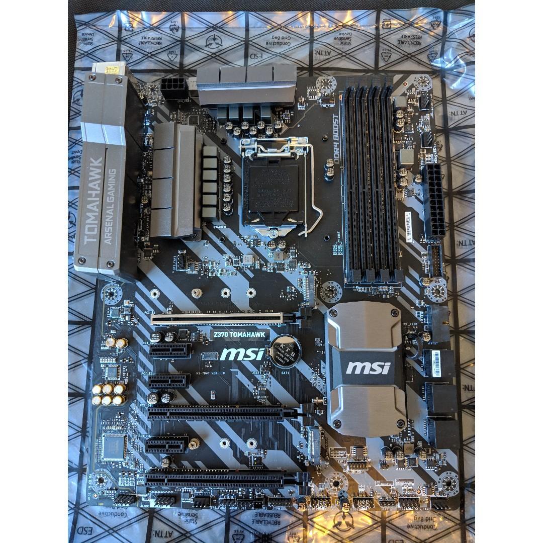 MSI Z370 Tomahawk Motherboard (8th / 9th Gen Intel - LGA 1151)