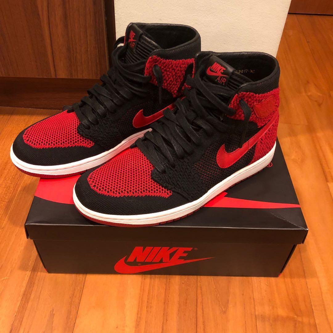 8235a612787cdc Nike Air Jordan 1 Flyknit Bred