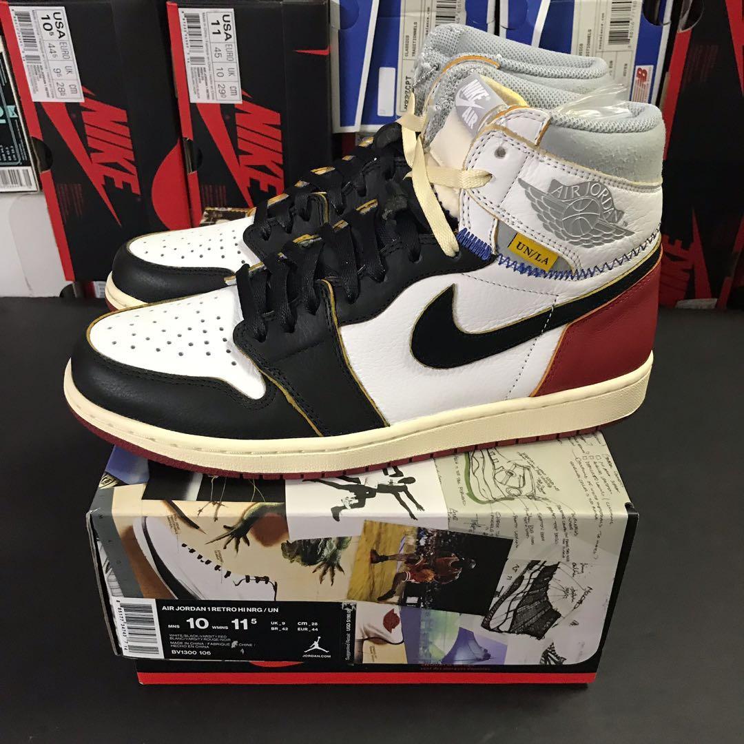 e6c519b5b1f Nike x Union Los Angeles Air Jordan 1 Retro High NRG Black Toe US 10 ...