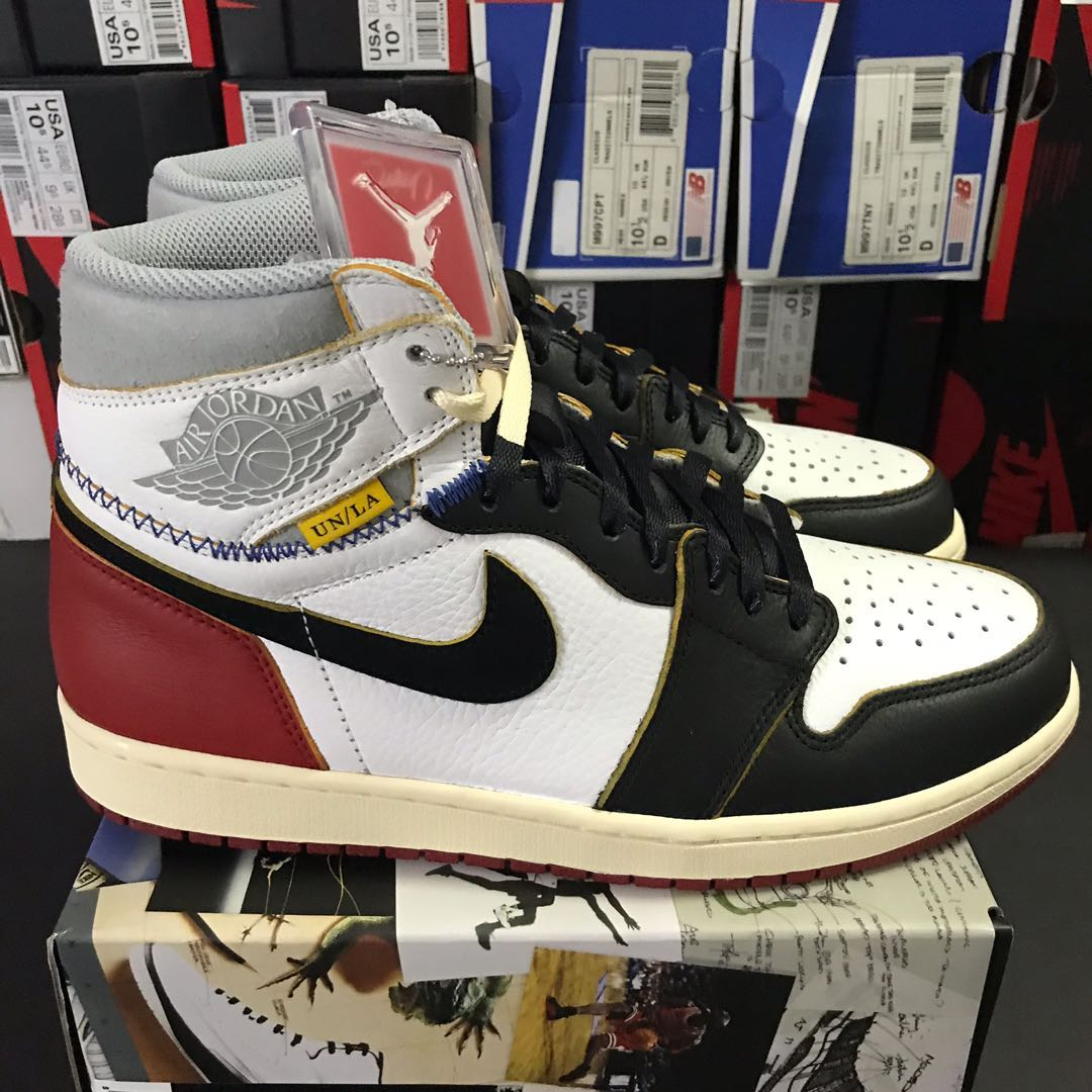 35fdfca8b4e Nike x Union Los Angeles Air Jordan 1 Retro High NRG Black Toe US 10, Men's  Fashion, Footwear, Sneakers on Carousell