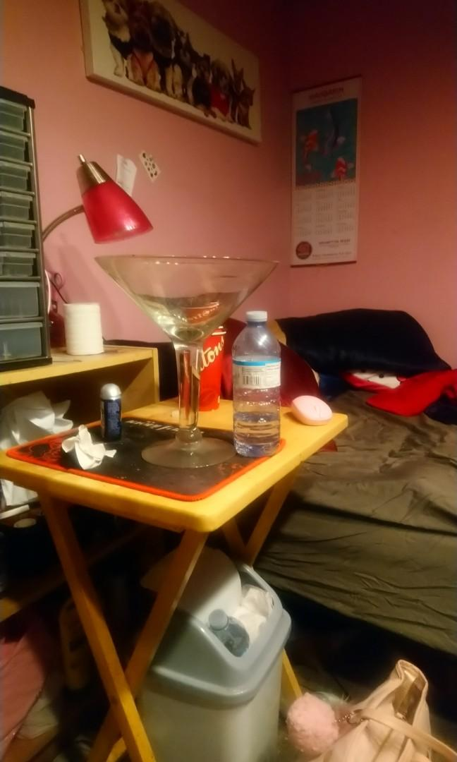 Over sized martini glass